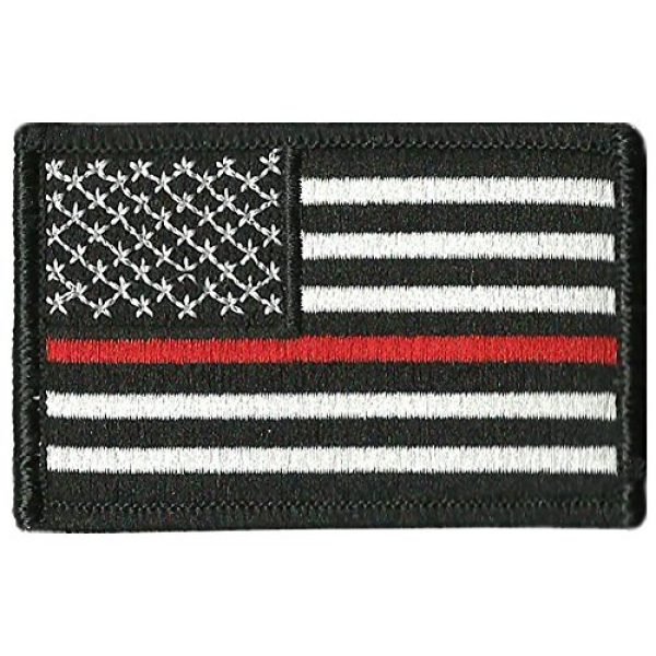 """Gadsden and Culpeper Airsoft Morale Patch 1 Thin Red Line Flag Tactical Patch - 2""""x3"""""""