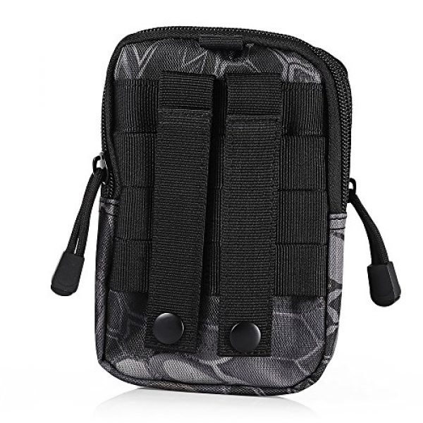 AODD Tactical Pouch 4 AODDING Tactical Pouch Bag, Waterproof Outdoor Sports Tactical Molle Waist Bag, Mini Size and Easy to Carry, Strong, Practical, Security Carry Case for Camping Hiking Mountaineering