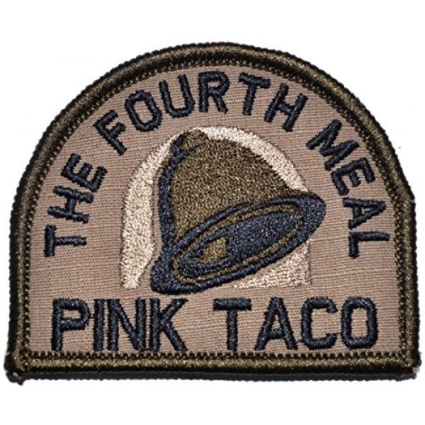 Tactical Gear Junkie Airsoft Morale Patch 1 Pink Taco - The Fourth Meal Patch (Coyote Brown with Black)