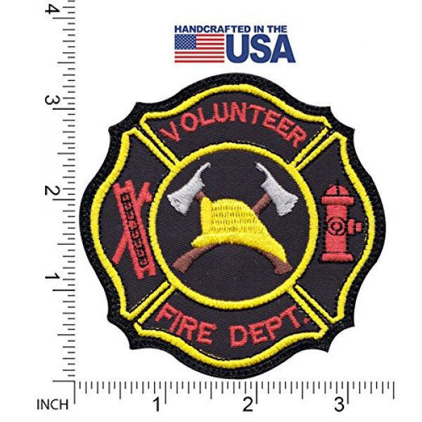 Tactical Patch Works Airsoft Morale Patch 2 Firefighter Hook Ladder Badge Patch