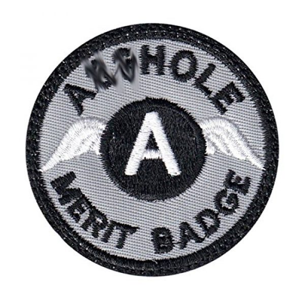 Tactical Patch Works Airsoft Morale Patch 1 A-hole Merit Badge Patch