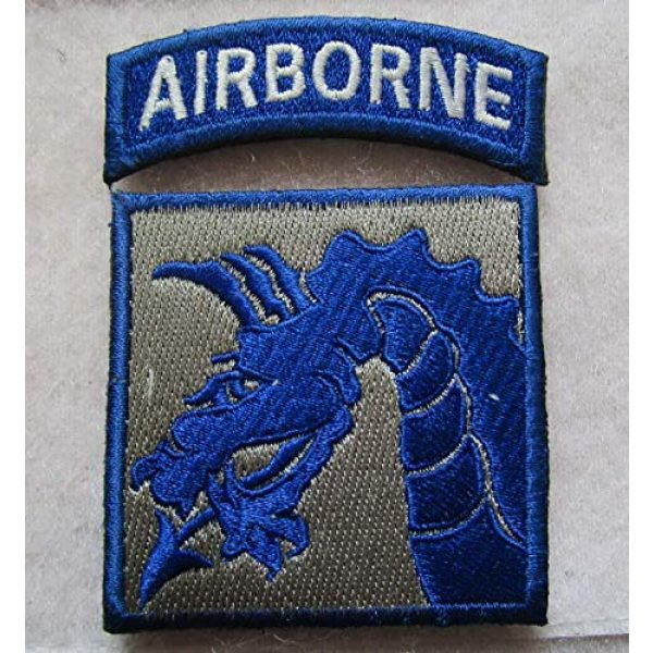 Embroidered Patch Airsoft Morale Patch 1 WW2 18th XVIII Airborne Corps 3D Tactical Patch Military Embroidered Morale Tags Badge Embroidered Patch DIY Applique Shoulder Patch Embroidery Gift Patch