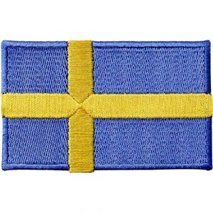 EmbTao Airsoft Morale Patch 1 Sweden Flag Patch Embroidered Swedish Applique Iron On Sew On National Emblem