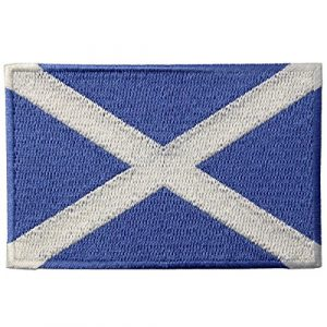 EmbTao Airsoft Morale Patch 1 Scotland Flag Scottish National Emblem Embroidered Iron On Sew On Patch