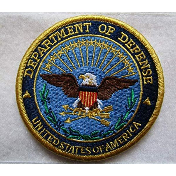 Embroidered Patch Airsoft Morale Patch 1 DOD Department of Defense Official 3D Tactical Patch Military Embroidered Morale Tags Badge Embroidered Patch DIY Applique Shoulder Patch Embroidery Gift Patch