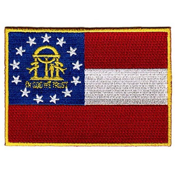 Cypress Collectibles Embroidered Patches Airsoft Morale Patch 1 Georgia State Flag Embroidered Patch Iron-On GA Emblem Current Version