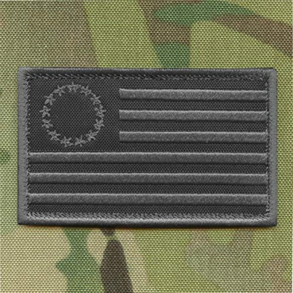 LEGEEON Airsoft Morale Patch 1 LEGEEON Blackout Betsy Ross 2x3.25 Flag American Revolution 1776 Morale Tactical Military Hook-and-Loop Patch