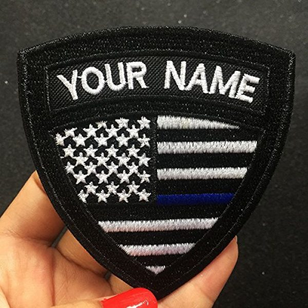 Graceful life Airsoft Morale Patch 2 Custom US Military Name Patch, Custom Embroidery Name Patches 2 PCS, Personalized Tactical Military Patches, Number Tag with Hook and Loop for Clothing Backpacks Caps Hats Jackets(2)