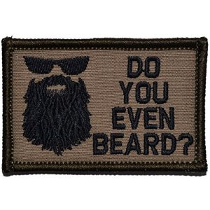 Tactical Gear Junkie Airsoft Morale Patch 1 Do You Even Beard 2x3 Patch - Coyote Brown with Black