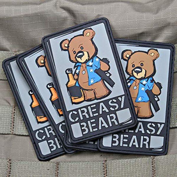 Violent Little Machine Shop Airsoft Morale Patch 4 Creasy Bear Morale Patch by Violent Little Machine Shop (Color)