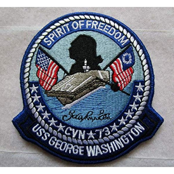 Embroidered Patch Airsoft Morale Patch 1 USS George Washington CVN 73 3D Tactical Patch Military Embroidered Morale Tags Badge Embroidered Patch DIY Applique Shoulder Patch Embroidery Gift Patch