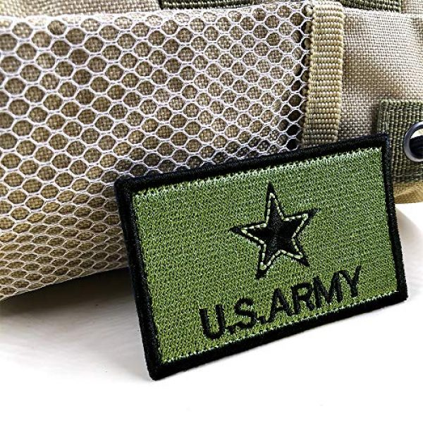 JumpyFire Airsoft Morale Patch 3 JumpyFire Tactical USA Army Velcro Patch, 4 PCS Make America Great Again Embroidered Military Morale Patches for Backpack Hat Jacket Jeans Uniform