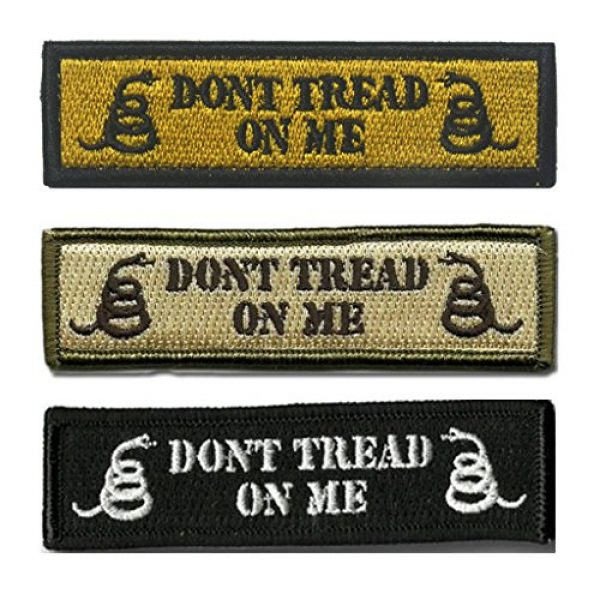 GreatPlus Airsoft Morale Patch 4 Don't Tread On Me Patch Embroidered Military Tactical Morale Patches