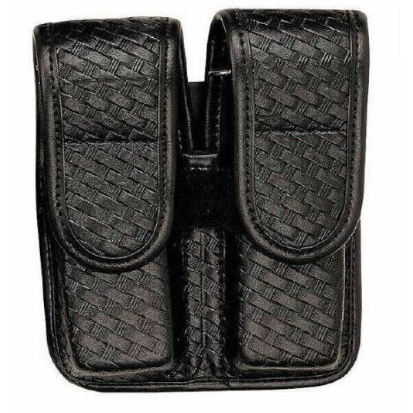 Bianchi AccuMold Tactical Pouch 1 Bianchi AccuMold Elite 7902 Double Magazine Pouch - Plain Finish with Chrome Snap - 25334 - Beretta 92/96F Centurion, 92F, 96F