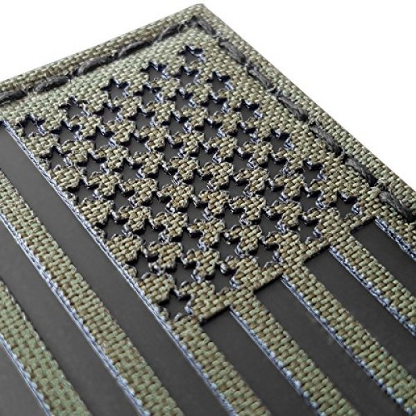 Tactical Freaky Airsoft Morale Patch 6 Olive Drab Green OD Infrared IR USA American Flag 3.5x2 IFF Tactical Morale Hook-and-Loop Patch