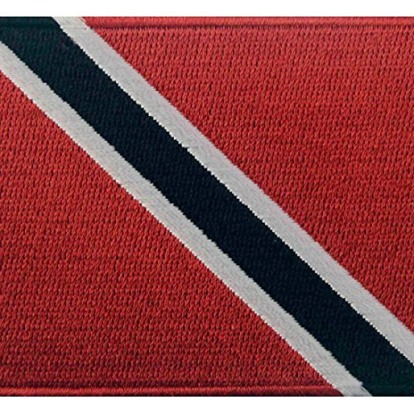 EmbTao Airsoft Morale Patch 2 Trinidad and Tobago Flag Embroidered Patch Caribbean Iron On Sew On National Emblem
