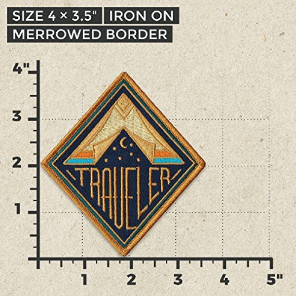 Asilda Airsoft Morale Patch 2 Asilda Embroidered Sew or Iron-on Patch (Traveler)
