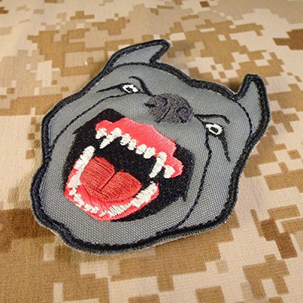 LEGEEON Airsoft Morale Patch 4 LEGEEON Glow Dark GITD K9 Pitbull Dog Teeth Scary Fierce Morale Tactical Embroidered Hook&Loop Patch