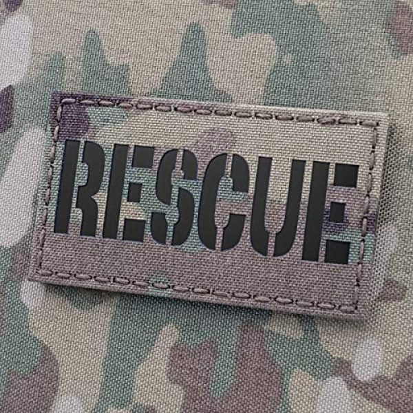 Tactical Freaky Airsoft Morale Patch 1 IR Multicam Rescue 2x3.5 CSAR SAR Combat Search Tactical Morale Hook-and-Loop Patch