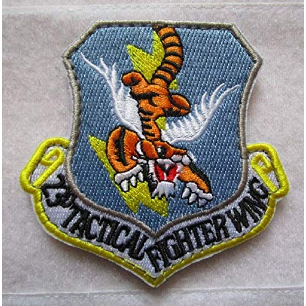Embroidered Patch Airsoft Morale Patch 1 USAF 23RD Fighter Group Flying Tigers 3D Tactical Patch Military Embroidered Morale Tags Badge Embroidered Patch DIY Applique Shoulder Patch Embroidery Gift Patch