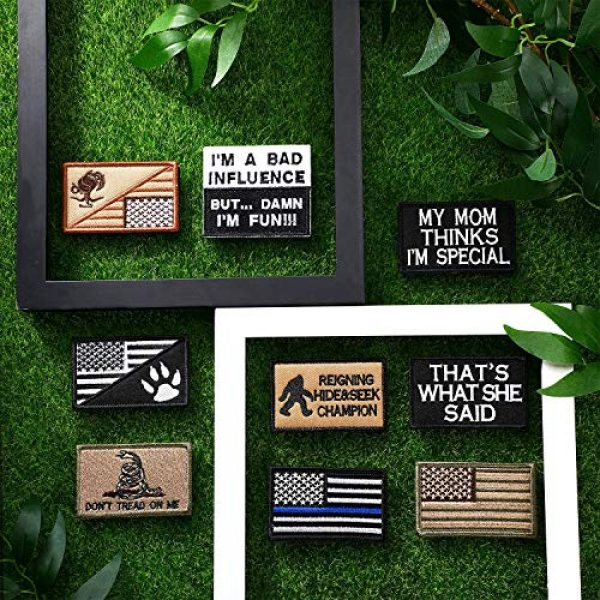 WILLBOND Airsoft Morale Patch 6 20 Pieces Tactical Embroidery Patch Funny Military Patch Embroidered Military Patch for DIY Caps Bags Vests Clothes Military Uniforms Decoration