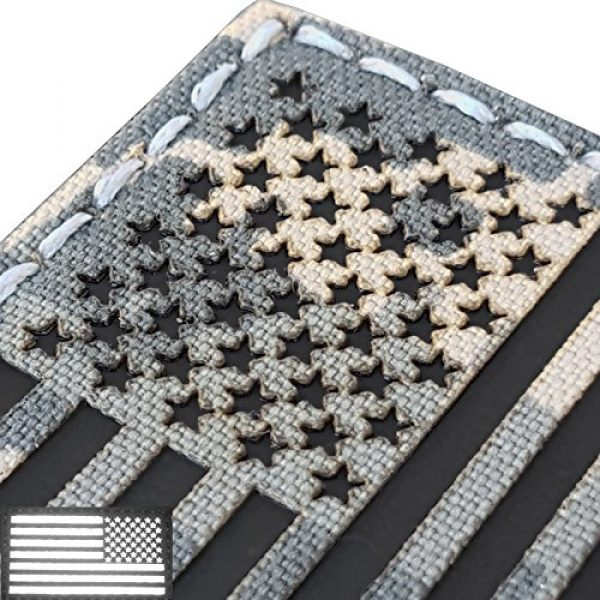 Tactical Freaky Airsoft Morale Patch 3 ACU Infrared IR USA American Reversed Flag 3.5x2 IFF Tactical Morale Fastener Patch