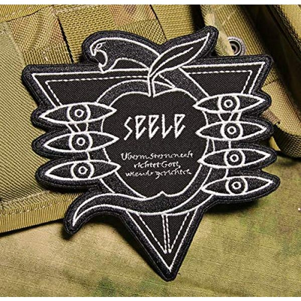 Embroidered Patch Airsoft Morale Patch 1 Evangelion Seele 3D Tactical Patch Military Embroidered Morale Tags Badge Embroidered Patch DIY Applique Shoulder Patch Embroidery Gift Patch