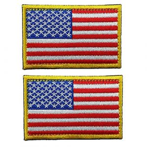 GrayCell Airsoft Morale Patch 1 GrayCell US Flag Dog Embroidered Tactical Morale Patch for Dog Harness & Vest- Set of 2 (US Flag)