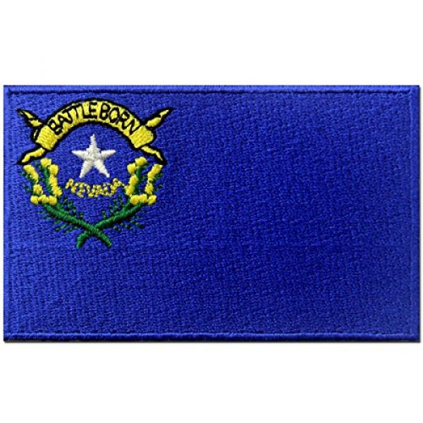EmbTao Airsoft Morale Patch 1 Nevada State Flag Embroidered Emblem Iron On Sew On NV Patch