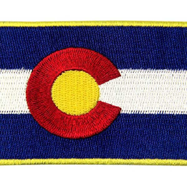 EmbTao Airsoft Morale Patch 2 Colorado State Flag CO Emblem Embroidered Iron On Sew On Patch
