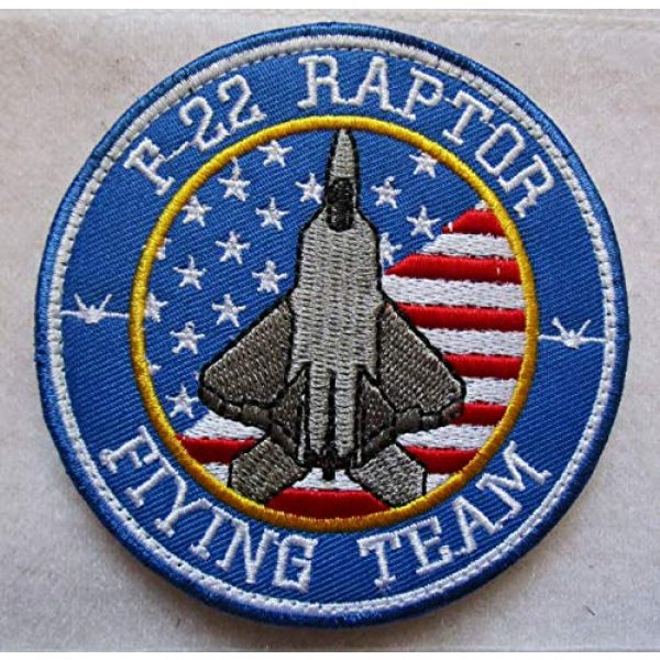 Embroidered Patch Airsoft Morale Patch 1 USAF Air Force F-22 Raptor Demo Team 3D Tactical Patch Military Embroidered Morale Tags Badge Embroidered Patch DIY Applique Shoulder Patch Embroidery Gift Patch