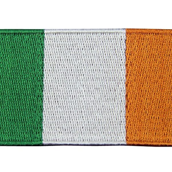 EmbTao Airsoft Morale Patch 2 Republic of Ireland Flag Embroidered Irish National Emblem Iron On Sew On Patch