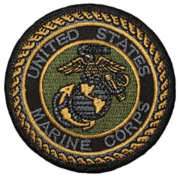 Papapatch Airsoft Morale Patch 1 Papapatch USMC United States Marine Corps EGA Hook and Loop Touch Fasteners Backing Patch O (SC-Hook-USMC-O)