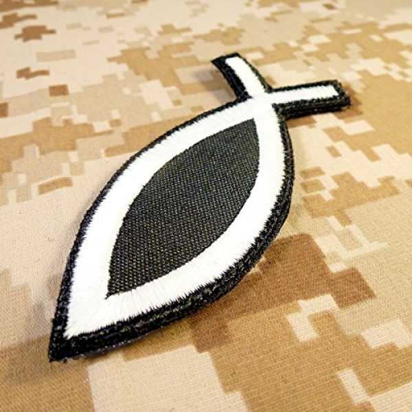 LEGEEON Airsoft Morale Patch 4 LEGEEON Glow Dark Ichthys Jesus Fish Christian ISAF Ichthus Morale Sew Iron on Patch