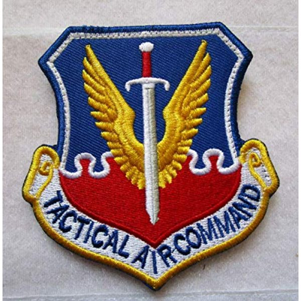 Embroidered Patch Airsoft Morale Patch 1 Tactical Air Command USAF TAC Vietnam War Era Sword Wings 3D Tactical Patch Military Embroidered Morale Tags Badge Embroidered Patch DIY Applique Shoulder Patch Embroidery Gift Patch
