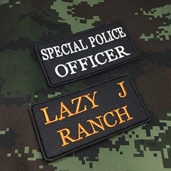 Lan Stang Airsoft Morale Patch 2 Lanstang Custom 2 Lines Name Tape with Hook Fastener Backing Personalized Tactical Biker Patch