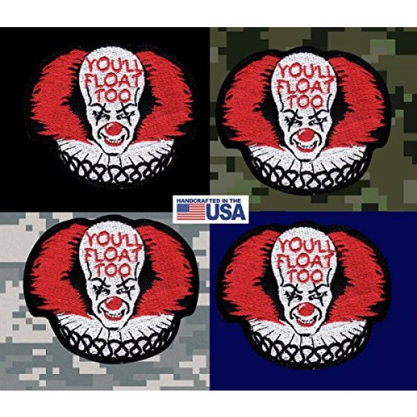 Tactical Patch Works Airsoft Morale Patch 3 IT Pennywise Inspired Art You'll Float Too Patch