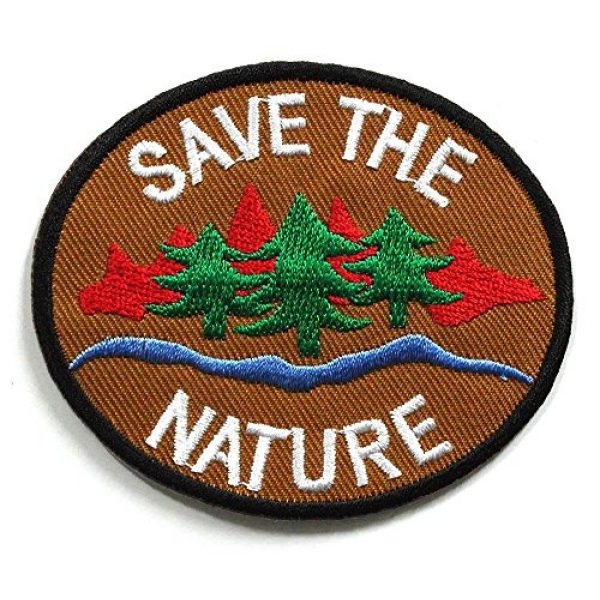 Asian 108 Markets Airsoft Morale Patch 2 Peace002 - Save The Nature Patch - Peace Sign Patch - Logo Patches - Applique Embroidered patches - Iron on Patches - Backpack Patches - Peace Patch Size 8 X 7 Cm.