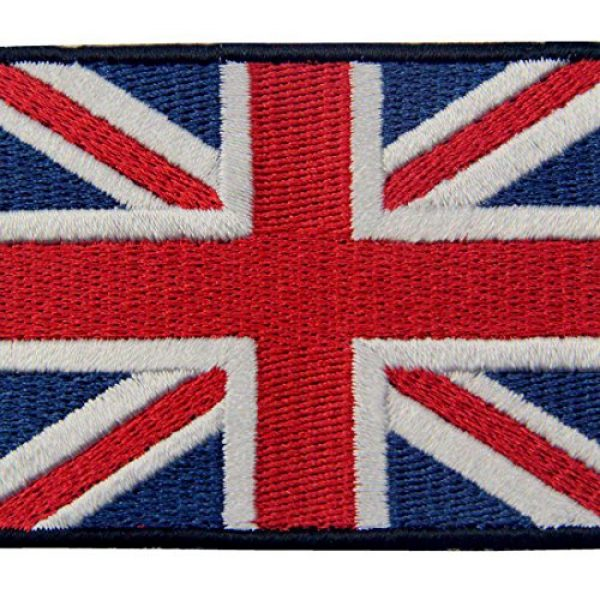 EmbTao Airsoft Morale Patch 2 EmbTao Patches British Union Jack Embroidered England Flag UK Great Britain Hook & Loop Emblem