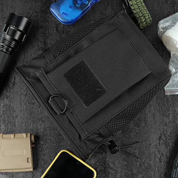 AMYIPO Tactical Pouch 6 AMYIPO Tactical Hip Holster Bag Outdoor Pouch Molle Drawstring Magazine Dump Pouch, Military Adjustable Belt Utility Pouch