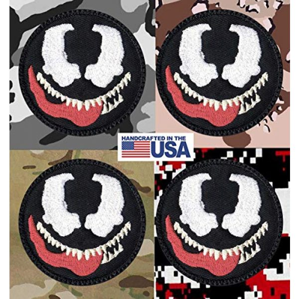 Tactical Patch Works Airsoft Morale Patch 4 Venom Cartoon Simple Head Patch