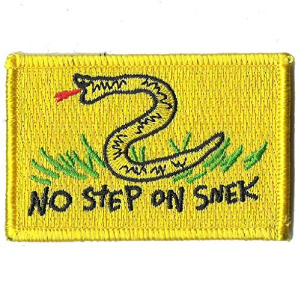 """Gadsden and Culpeper Airsoft Morale Patch 1 2"""" x 3"""" No Step on Snek Meme - Tactical Morale Patch"""