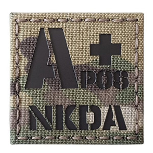 Tactical Freaky Airsoft Morale Patch 1 Multicam Infrared IR APOS NKDA A+ Blood Type 2x2 Tactical Morale Hook&Loop Patch