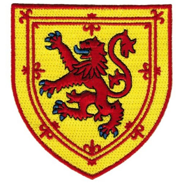 Cypress Collectibles Embroidered Patches Airsoft Morale Patch 1 Scotland Coat Arms Patch Lion Rampant Shield Embroidered Iron-On Royal Standard