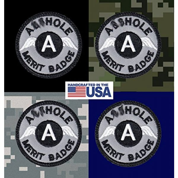 Tactical Patch Works Airsoft Morale Patch 3 A-hole Merit Badge Patch