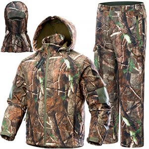 NEW VIEW Tactical Shirt 1 NEW VIEW Upgraded Hunting Clothes for Men,Silent Water Resistant Hunting Suits,Hunting Jacket and Pants