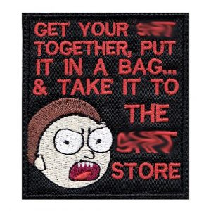 Tactical Patch Works Airsoft Morale Patch 1 Morty Sh-t Pack Your Sh-t Put It In A Bag Patch