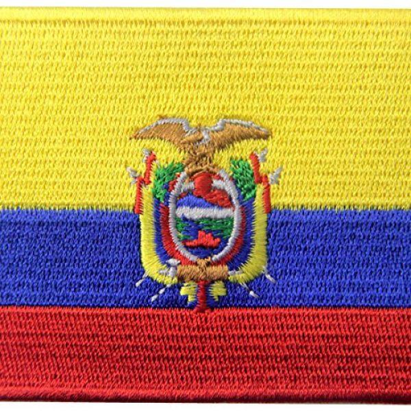 EmbTao Airsoft Morale Patch 2 Ecuador Flag Embroidered Emblem Ecuadorian Iron On Sew On National Patch