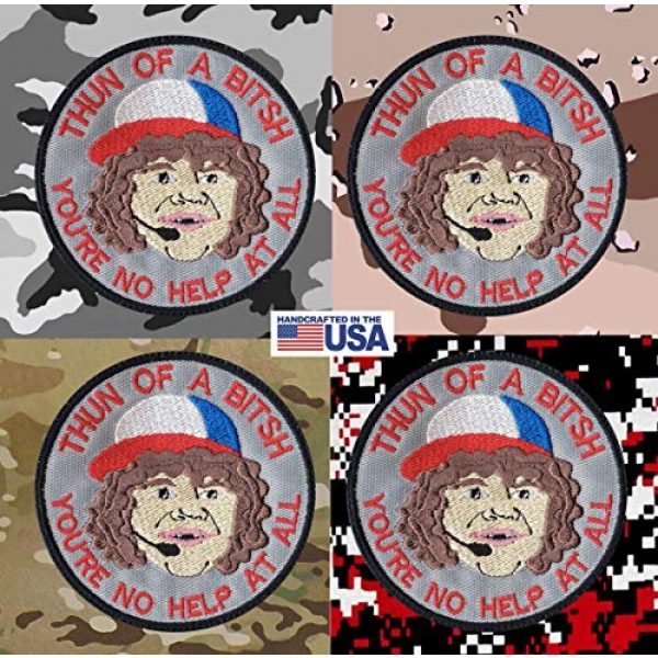 Tactical Patch Works Airsoft Morale Patch 4 Dustin Son Thun Of A Bitsh Stranger Things Inspired Art Patch