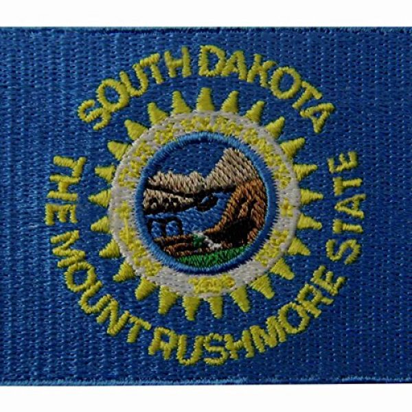 EmbTao Airsoft Morale Patch 2 South Dakota State Flag Embroidered Emblem Iron On Sew On SD Patch